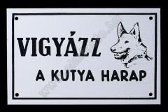 kutya_harap_tabla_aluminium_szitazott